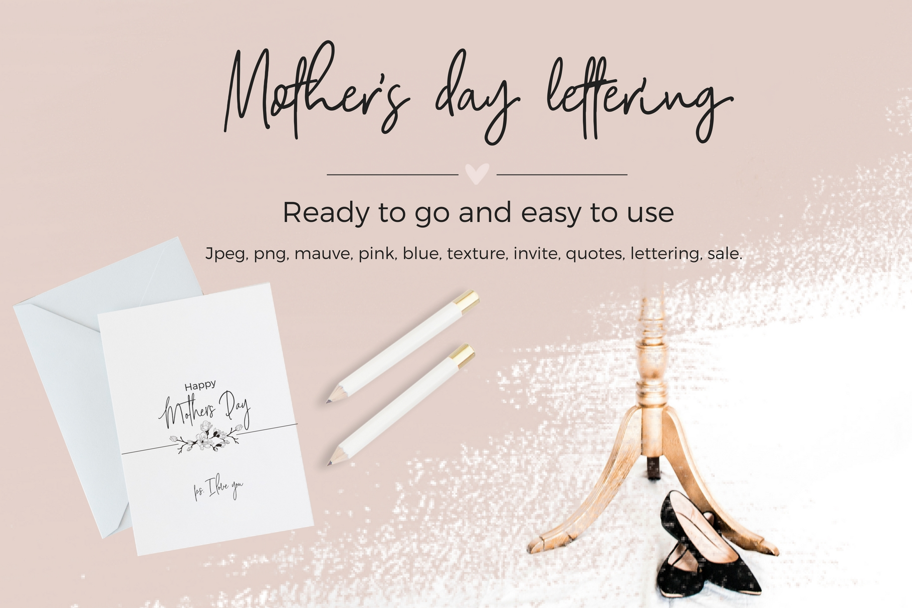 Mother's Day Lettering Gráfico Elementos de Web Por Creative Stash