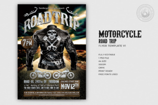 Motorcycle Road Trip Flyer Template Graphic By ThatsDesignStore