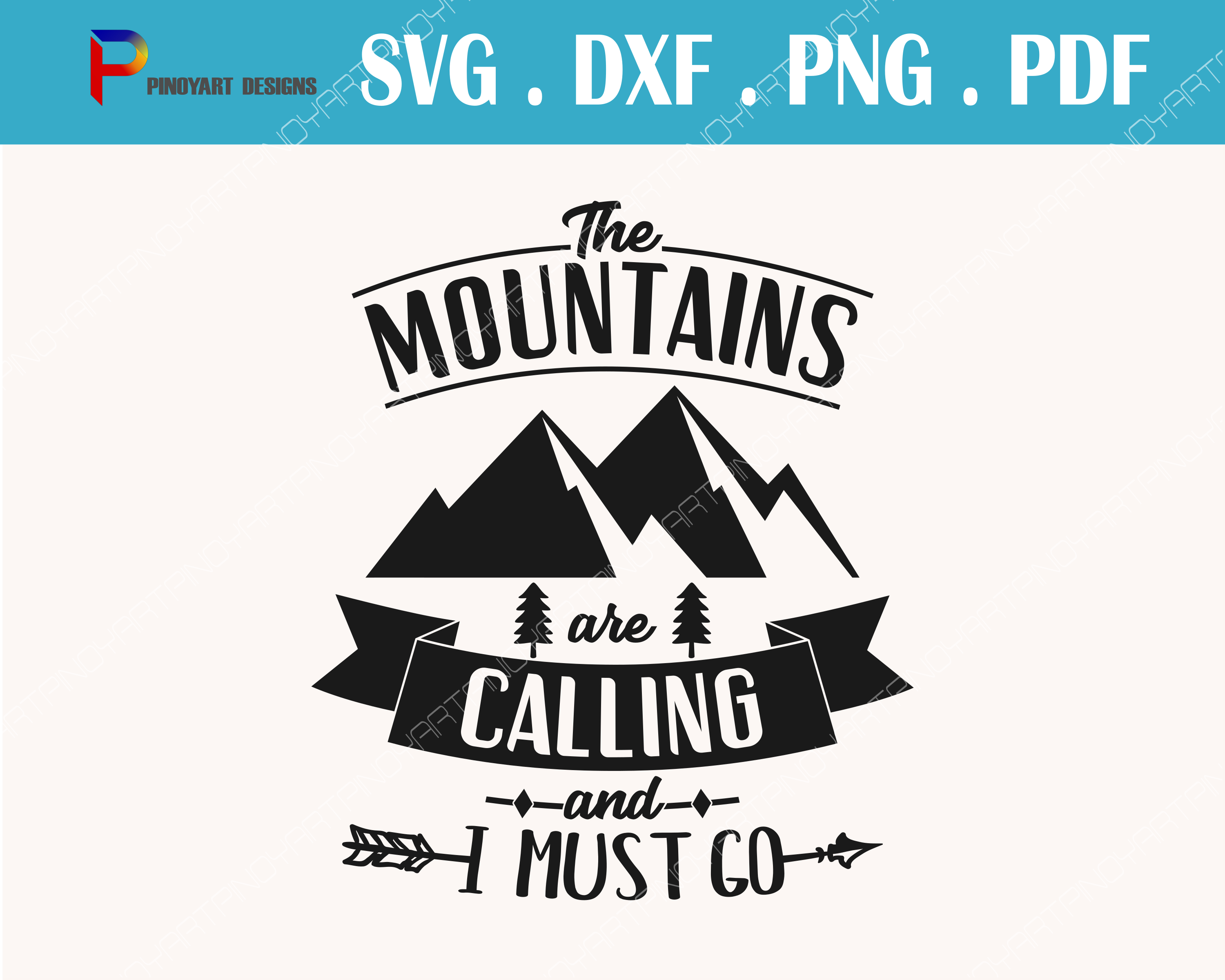 Download Free Mountains Are Calling Grafico Por Pinoyartkreatib Creative Fabrica for Cricut Explore, Silhouette and other cutting machines.