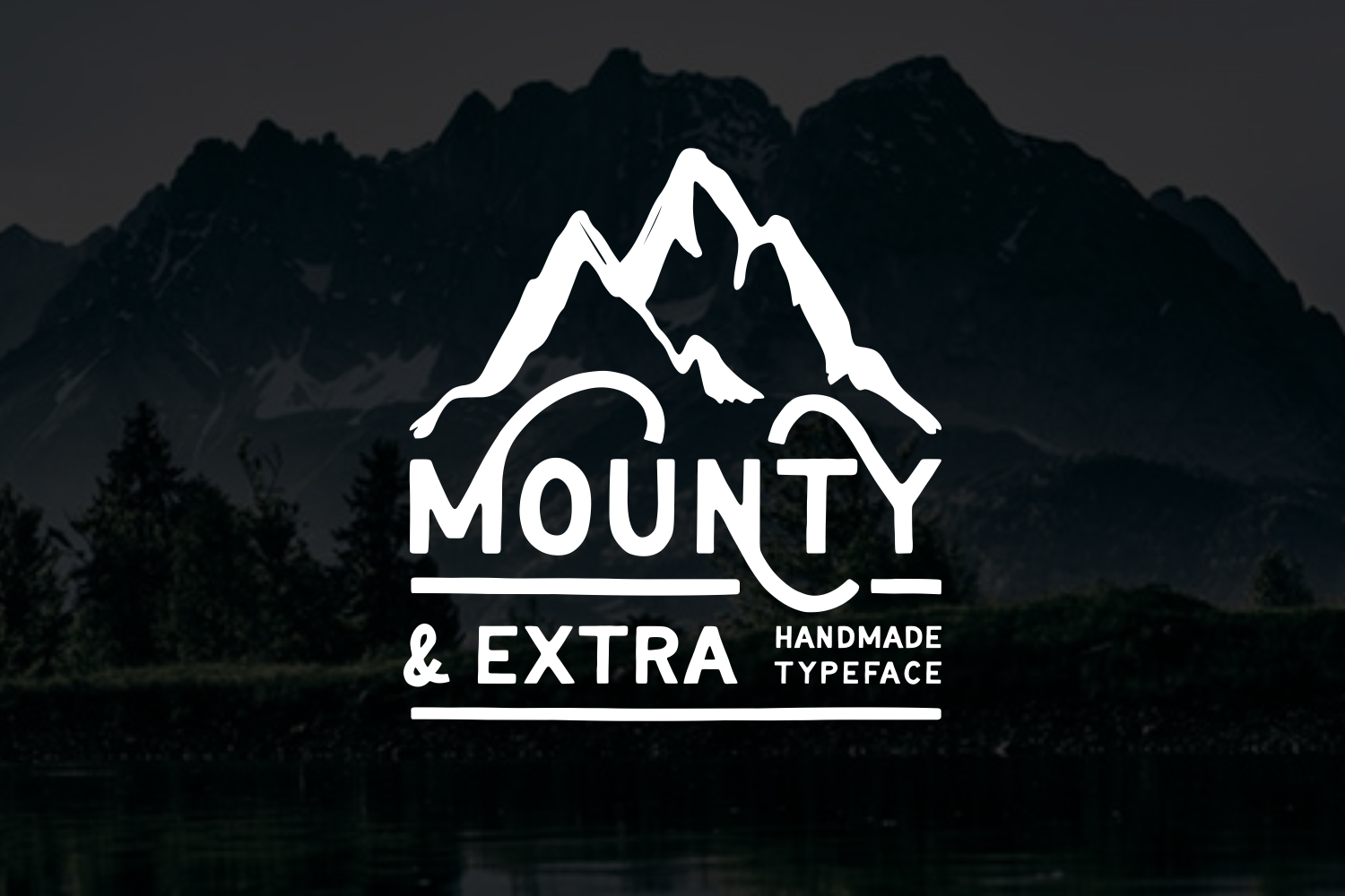 Print on Demand: Mounty Display Font By Tiyoart (7ntypes)