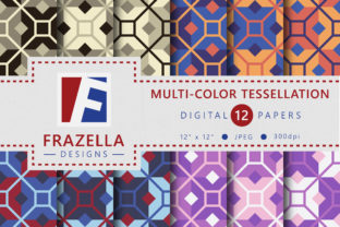 Download Free Multi Color Tessellation Pattern Digital Paper Collection Graphic for Cricut Explore, Silhouette and other cutting machines.