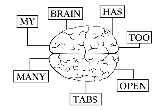 Download Free My Brain Has Too Many Tabs Open Archivos De Corte Svg Por for Cricut Explore, Silhouette and other cutting machines.