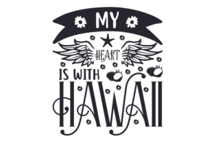 My Heart is with Hawaii Craft Design By Creative Fabrica Crafts