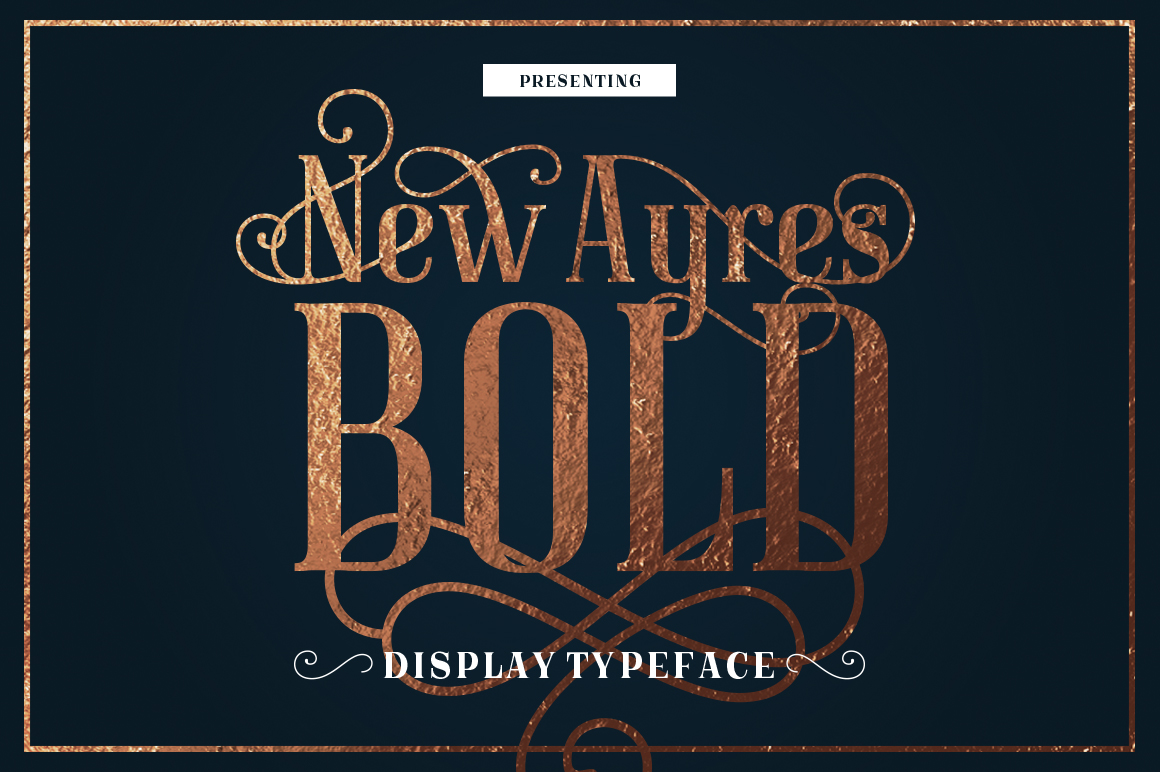 Print on Demand: New Ayres Bold Display Font By magofonts