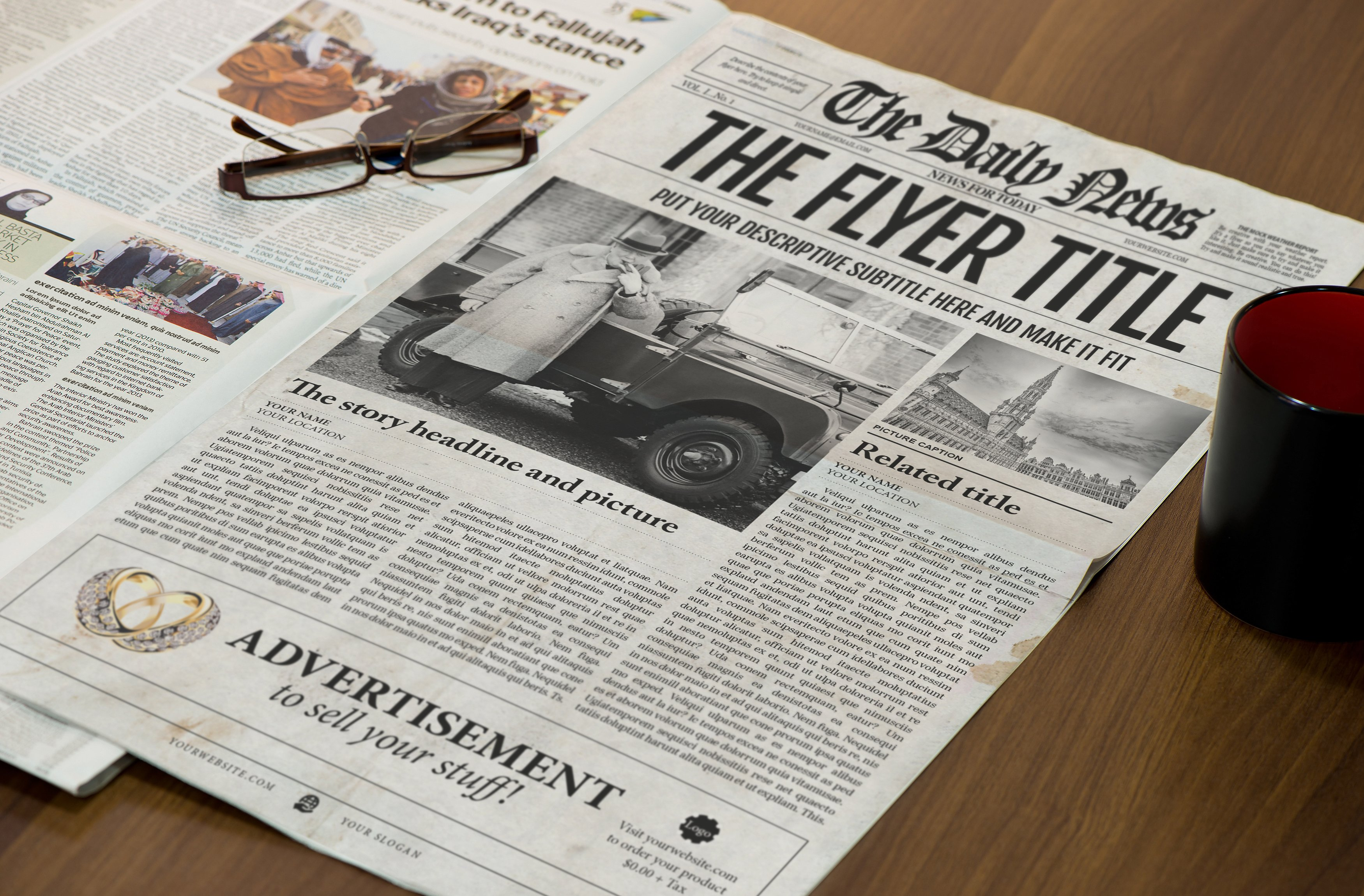 Newspaper Template Indesign Graphic By Ted Creative Fabrica