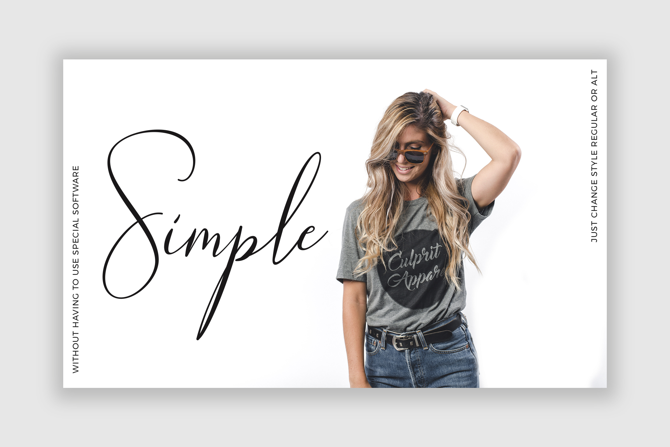 Print on Demand: Nicole White Script & Handwritten Font By Aqr Typeface - Image 9