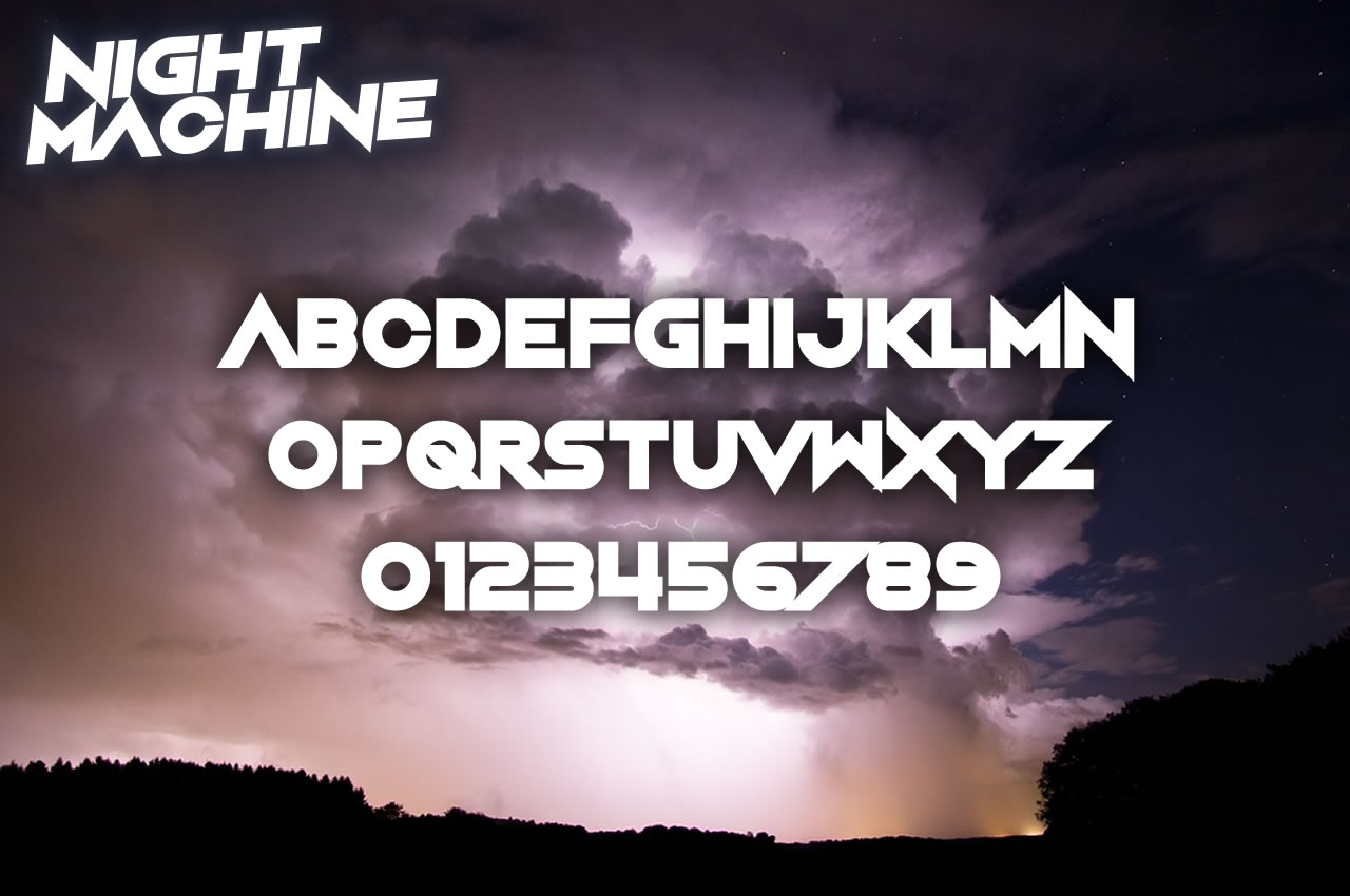 Print on Demand: Night Machine Display Font By Chequered Ink - Image 2