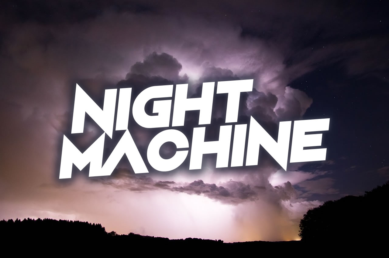 Print on Demand: Night Machine Display Font By Chequered Ink - Image 1