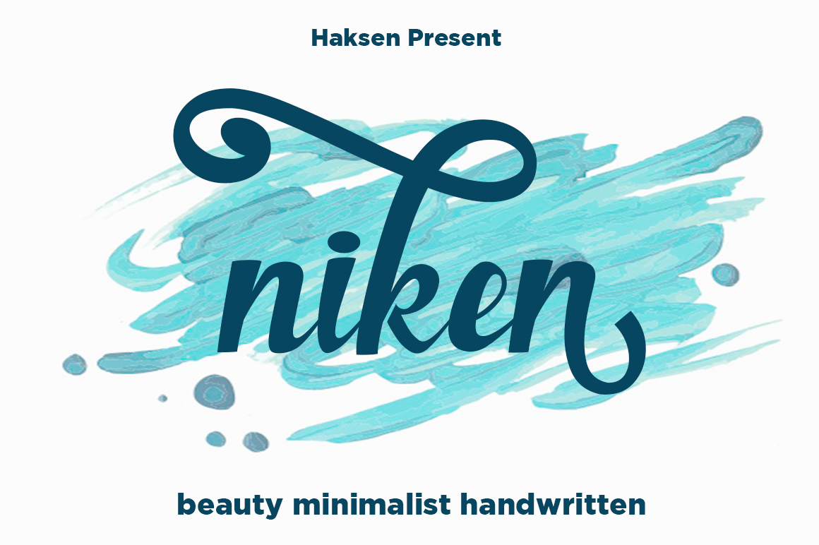 Print on Demand: Niken Manuscrita Fuente Por Haksen
