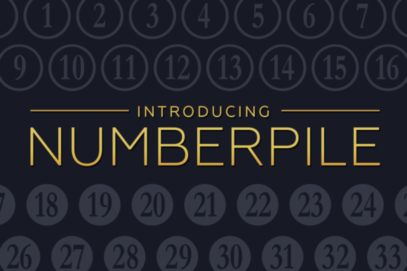 Print on Demand: Numberpile Decorative Font By Typodermic