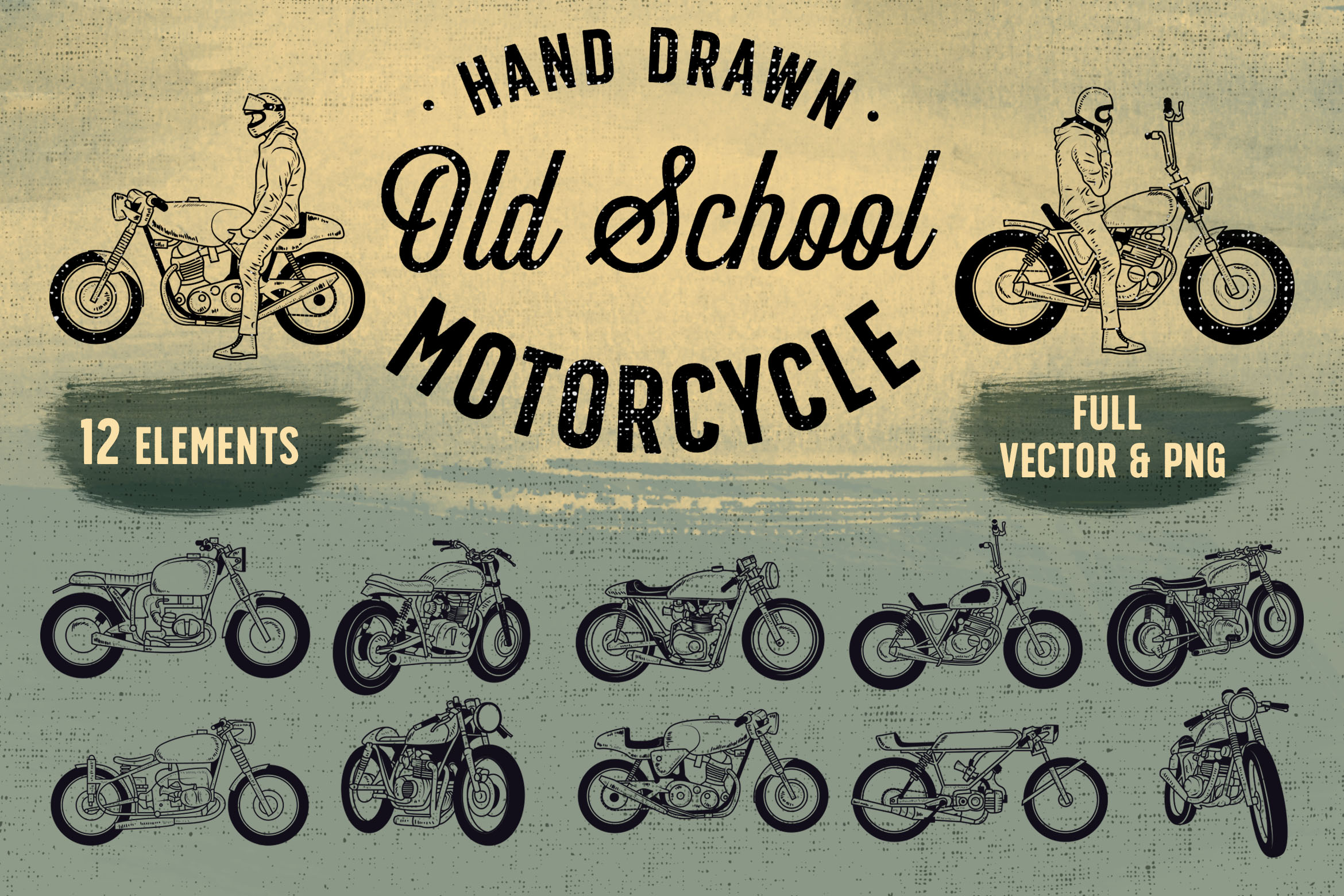 OLD SCHOOL MOTORCYCLE Graphic By storictype Image 1