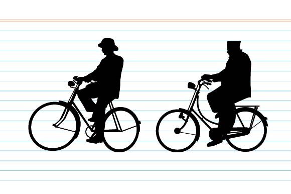 Old Cycling Silhouette Graphic By Emnazar2009 183 Creative