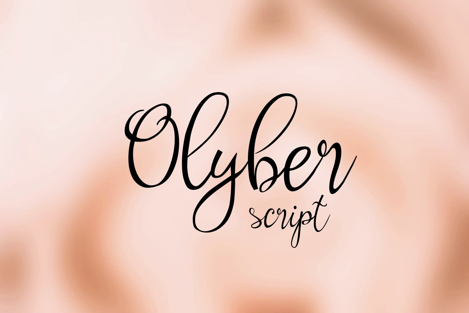 Print on Demand: Olyber Script & Handwritten Font By Eva Barabasne Olasz