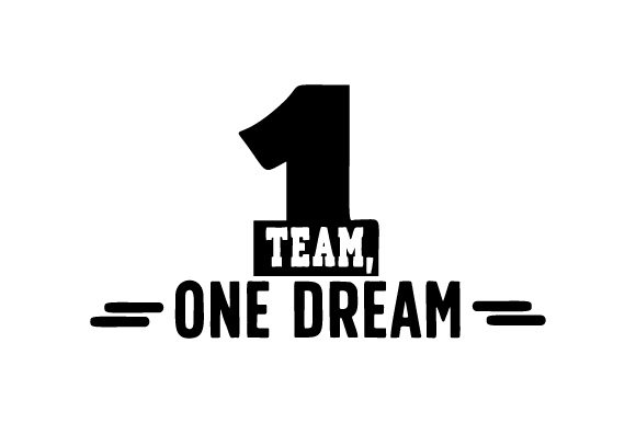 Download Free One Team One Dream Svg Cut File By Creative Fabrica Crafts for Cricut Explore, Silhouette and other cutting machines.