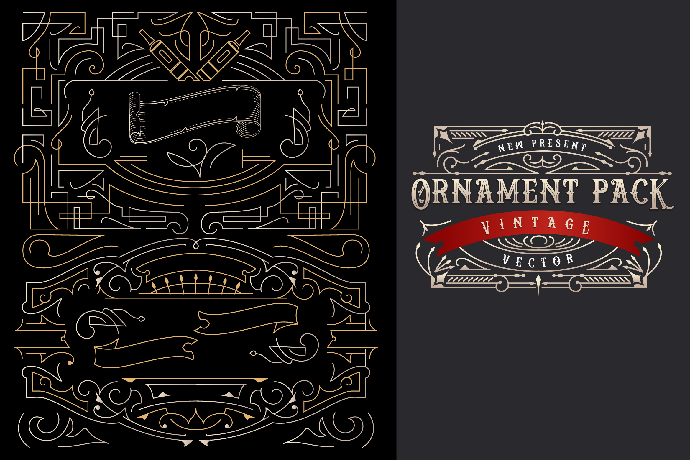 Ornament Pack Vintage 1 Graphic Objects By storictype - Image 2