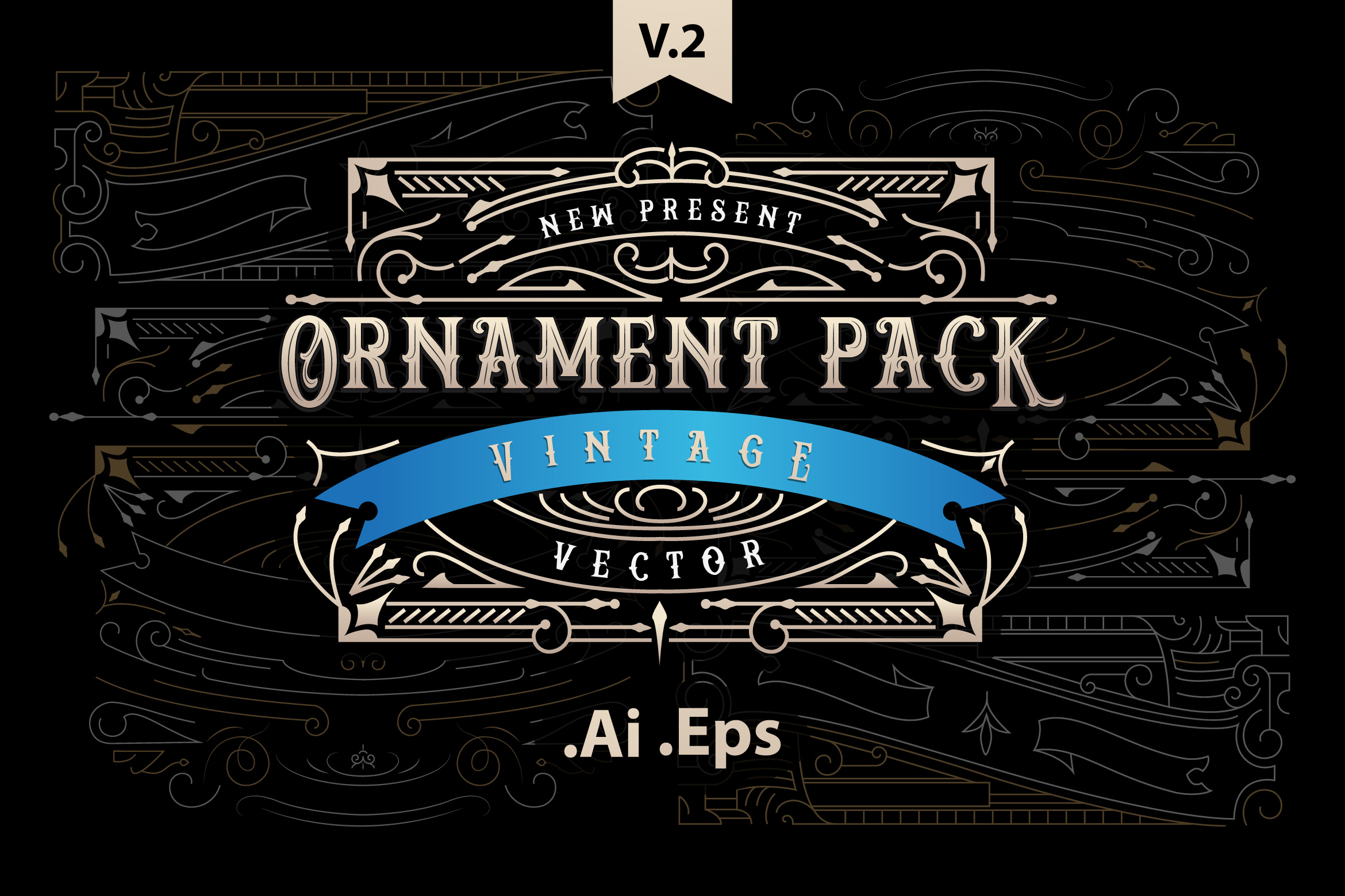 Ornament Pack Vintage 2 Graphic By storictype Image 1