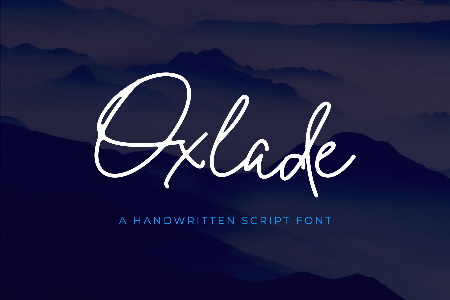 Print on Demand: Oxlade Script & Handwritten Font By yellowline