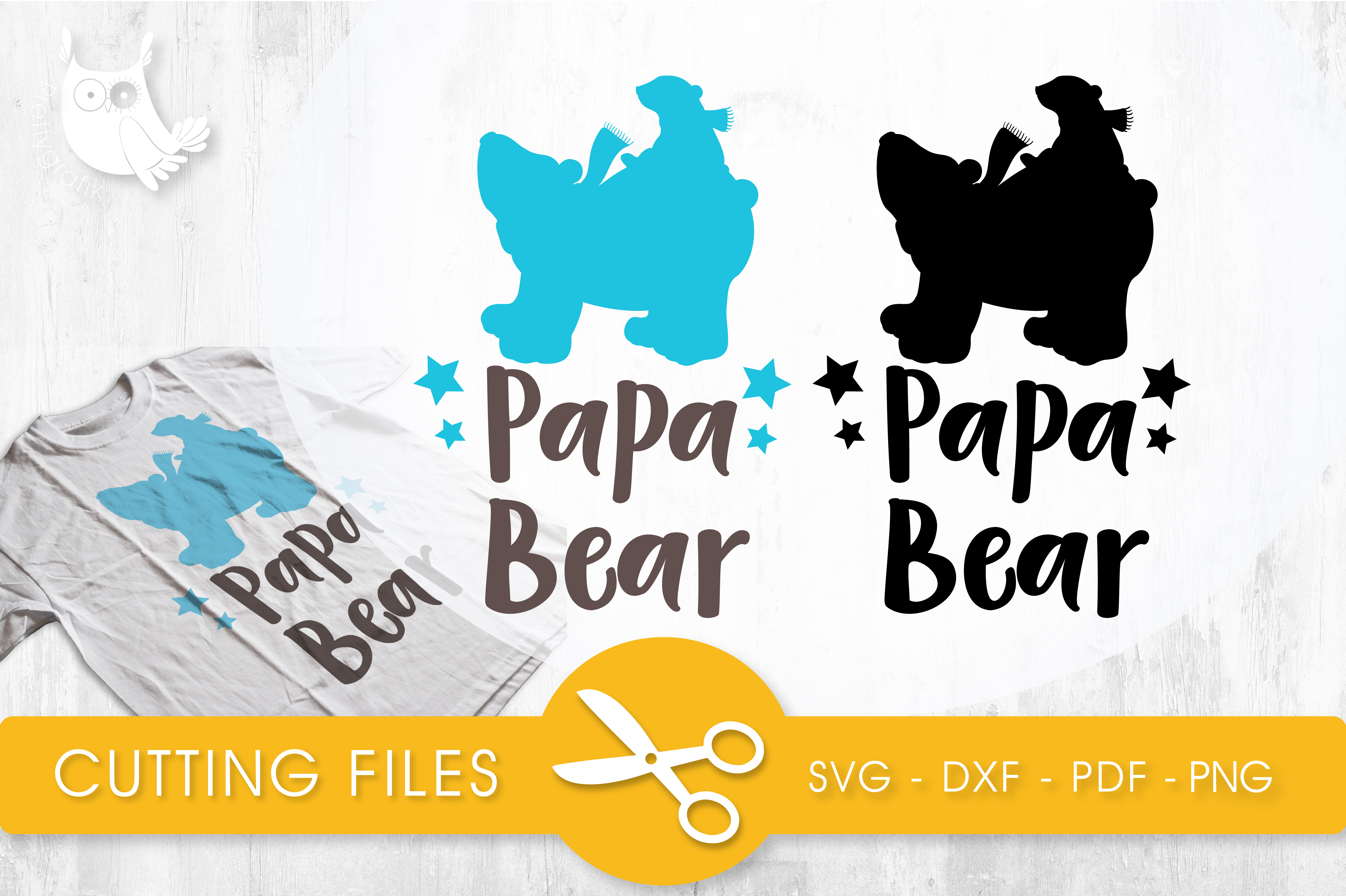 Papa Bear Graphic Crafts By PrettyCuttables