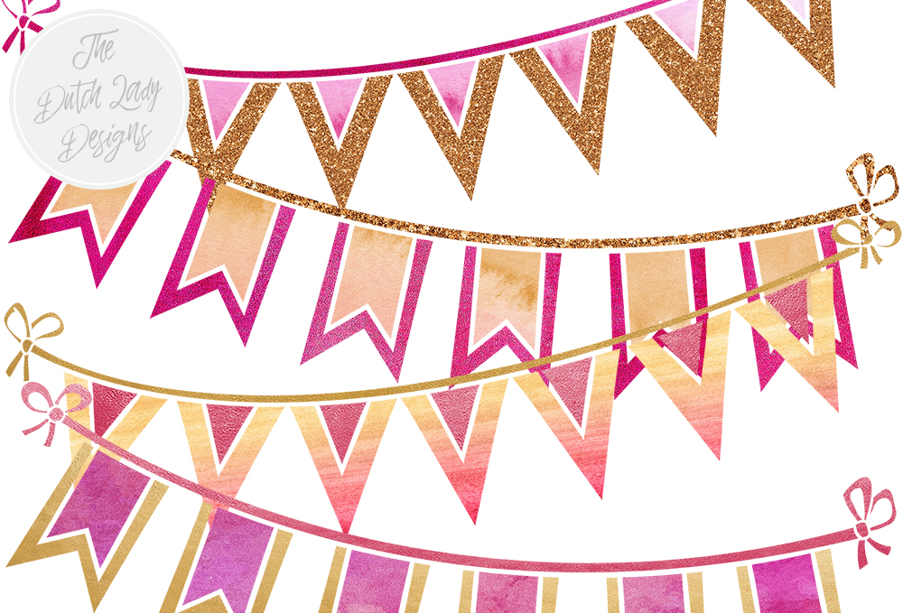 Download Free Party Cake Clipart Set In Pink Purple And Gold Birthday SVG Cut Files