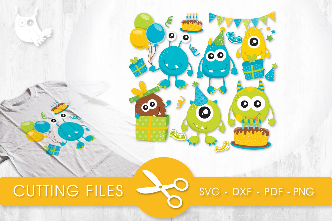 Party Monsters Graphic Crafts By PrettyCuttables