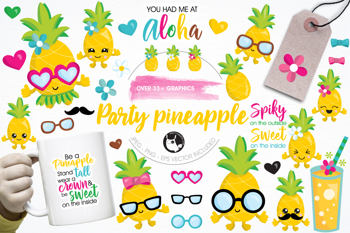Download Free Party Pineapple Grafico Por Prettygrafik Creative Fabrica for Cricut Explore, Silhouette and other cutting machines.