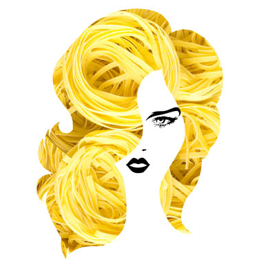 Pasta Hairstyle Graphic Illustrations By Sasha_Brazhnik