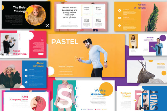 pastel creative powerpoint presentation graphic by haris putra