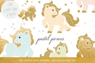 Download Free Pastel Pony Clipart Set Graphic By Daphnepopuliers Creative for Cricut Explore, Silhouette and other cutting machines.