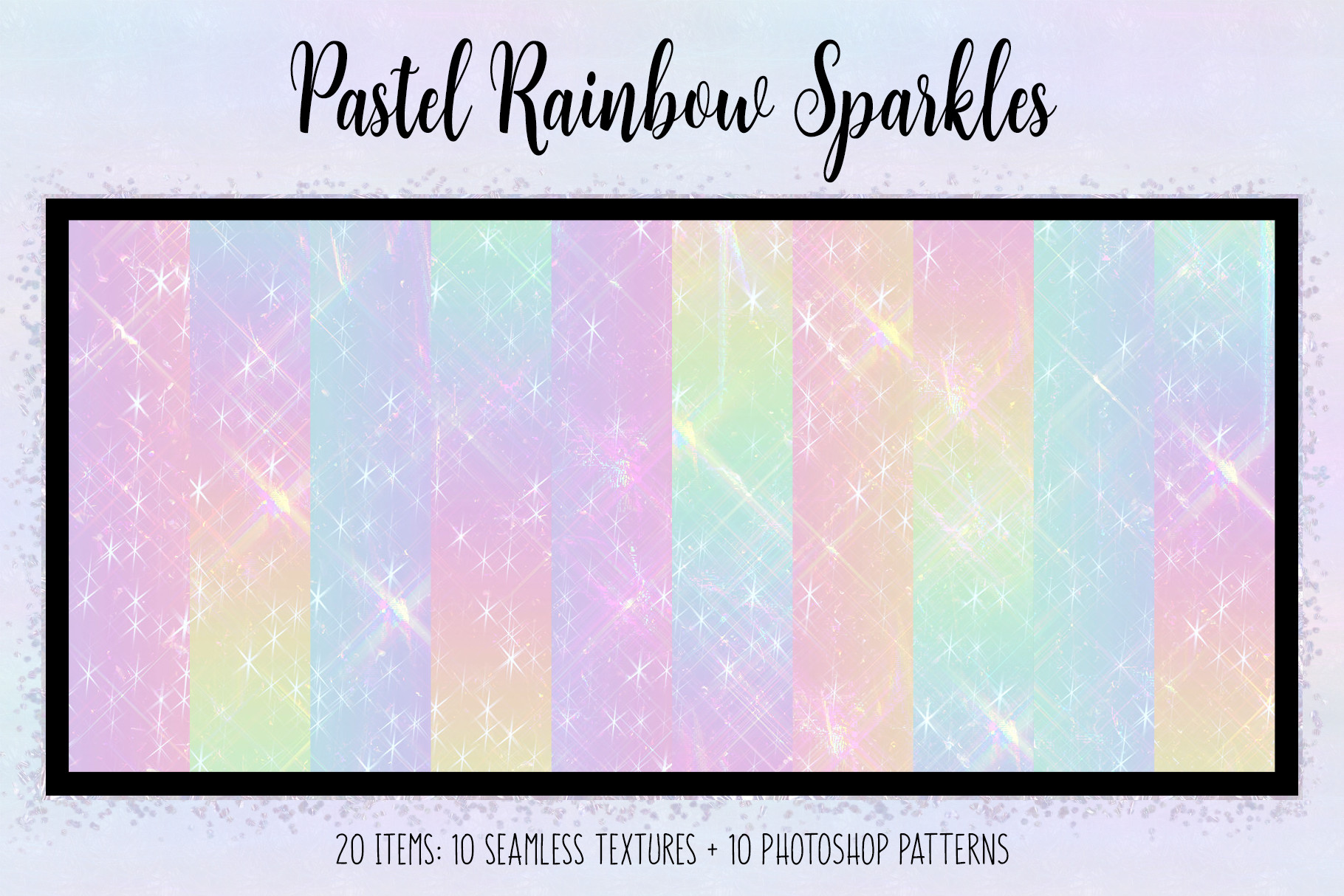 Print on Demand: Pastel Rainbow Sparkles Graphic Textures By JulieCampbellDesigns