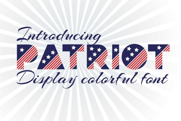 Print on Demand: Patriot Display Font By z.zajka