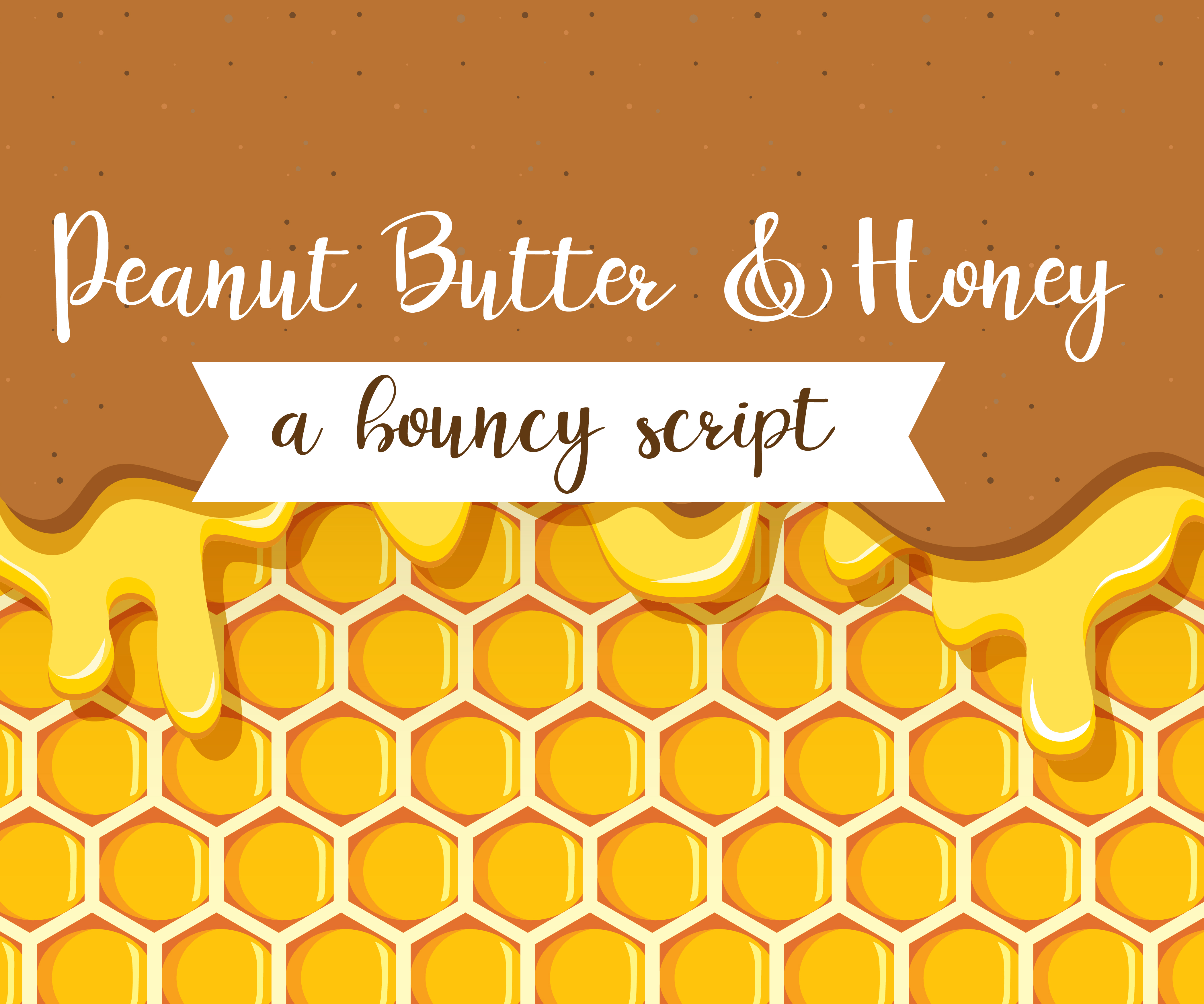 Print on Demand: Peanut Butter and Honey Script & Handwritten Font By Illustration Ink