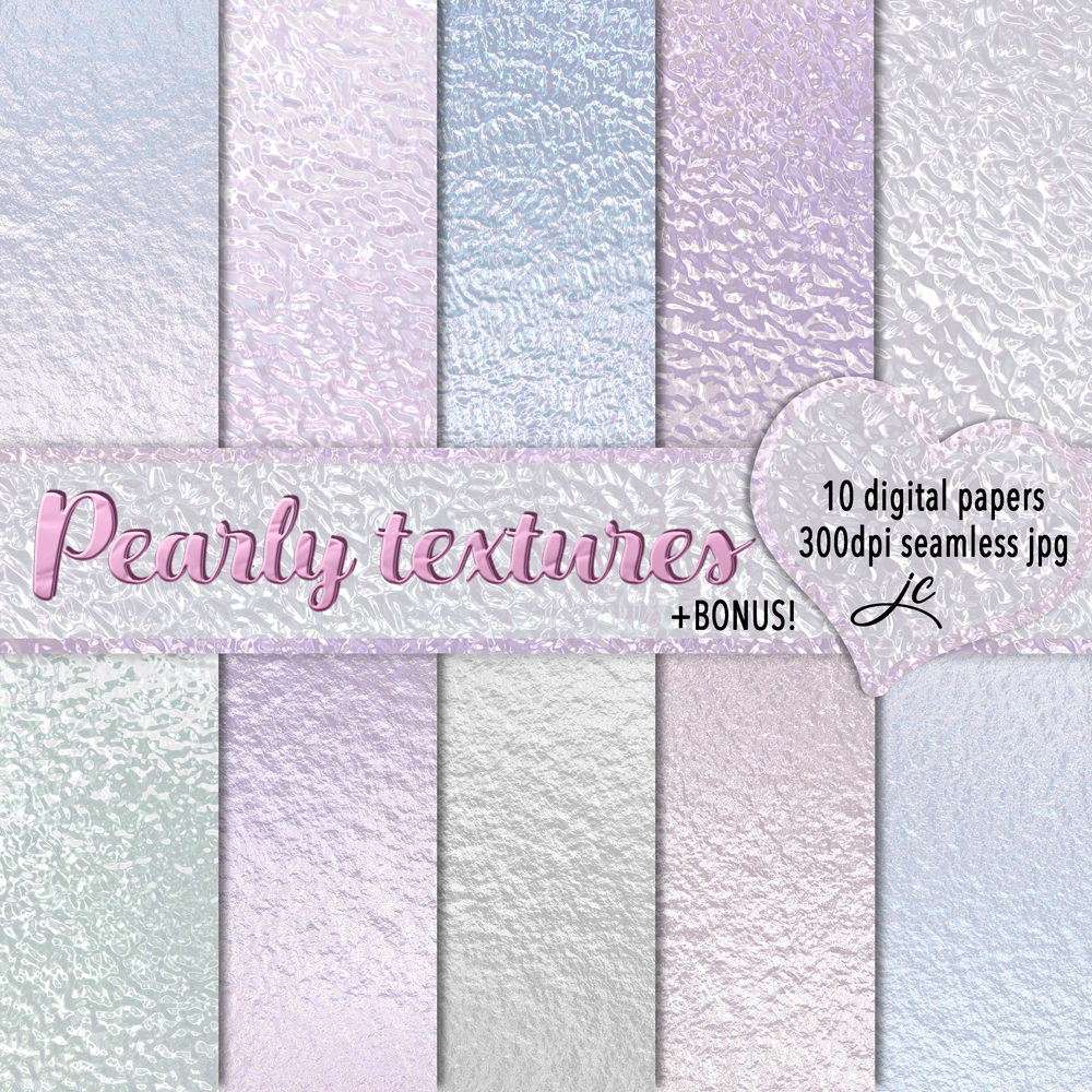 Print on Demand: Pearly Textures Graphic Textures By JulieCampbellDesigns