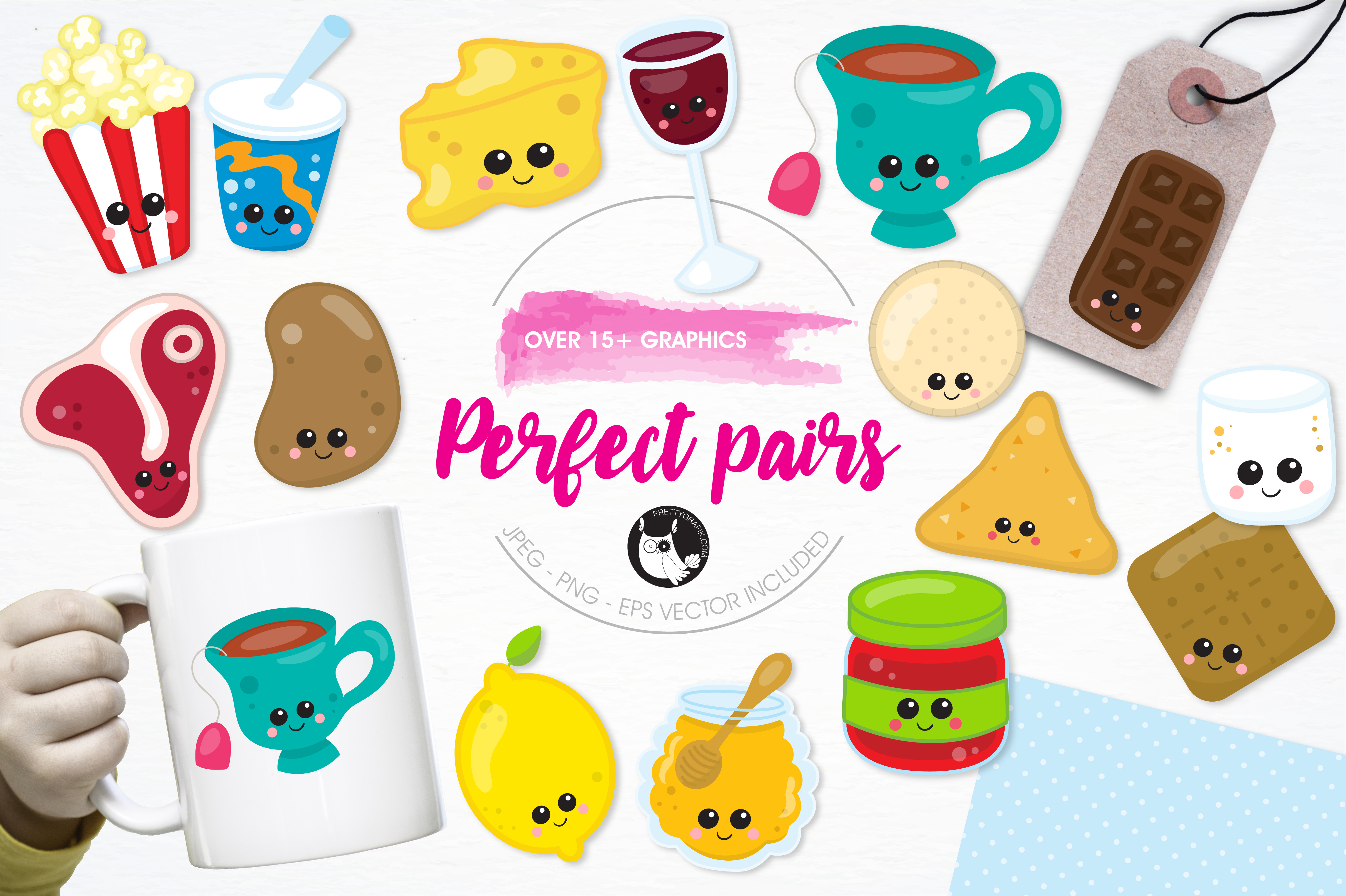 Print on Demand: Perfect Pairs Graphic Illustrations By Prettygrafik - Image 1