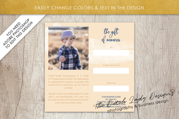 Download Free Photography Gift Certificate Template 42 Graphic By for Cricut Explore, Silhouette and other cutting machines.