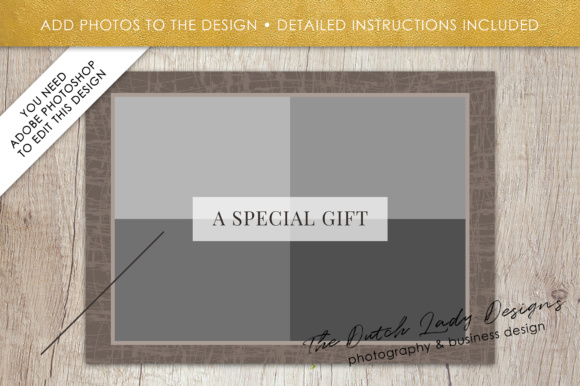 Print on Demand: Photography Gift Certificate Template - Photo Gift Card - Layered .PSD Files - Design #29 Graphic Graphic Templates By daphnepopuliers - Image 5