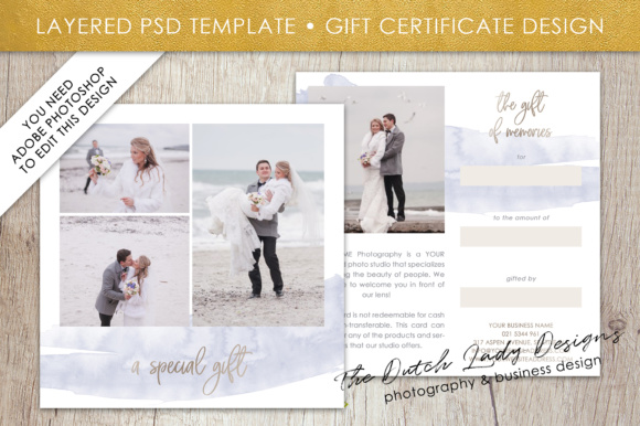 photography gift certificate template photo gift card layered psd files design 42