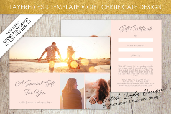 photography gift certificate template photo gift card layered psd files design 1 graphic by daphnepopuliers creative fabrica - Gift Certificate Template Photoshop