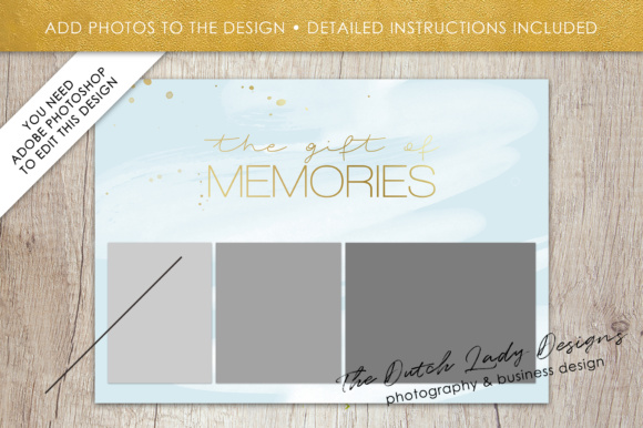 Print on Demand: Photography Gift Certificate Template - Photo Gift Card - Watercolor Style - Layered .PSD Files - Design #38 Graphic Graphic Templates By daphnepopuliers - Image 5
