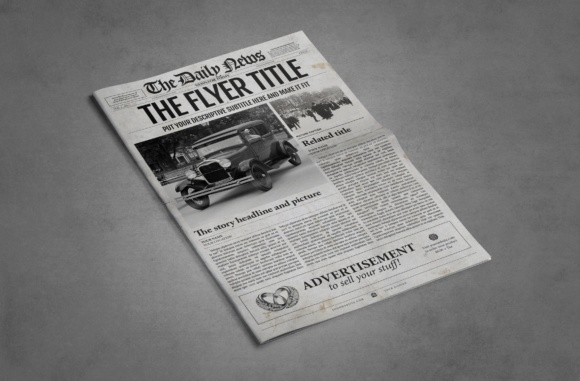 Photoshop newspaper template graphic by ted creative fabrica photoshop newspaper template graphics maxwellsz