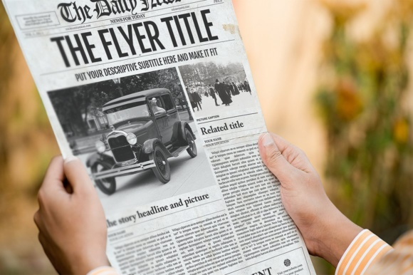 Download Free Photoshop Newspaper Template Graphic By Newspaper Templates for Cricut Explore, Silhouette and other cutting machines.
