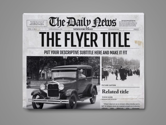 Photoshop Newspaper Template Graphic By Ted Creative Fabrica