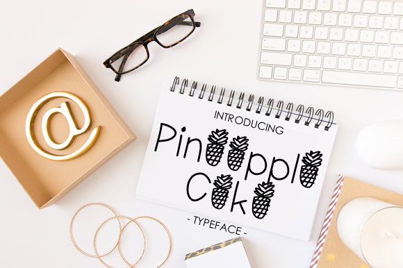 Print on Demand: Pineapple Cake Decorative Font By yh.seaofknowledge - Image 1