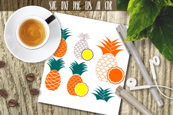 Download Free Pineapple Graphic By Vector City Skyline Creative Fabrica for Cricut Explore, Silhouette and other cutting machines.
