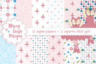 Pink Ballerina Fox Backgrounds Graphic By MarcyCoateDesigns