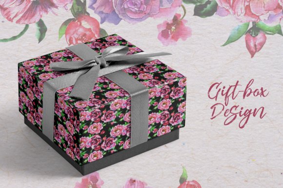 Download Free Pink Charm Peonies Watercolor Set Graphic By Mystocks Creative for Cricut Explore, Silhouette and other cutting machines.
