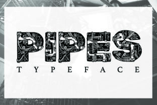 Pipes Font By Macaroni Mayhem