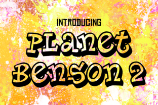 Planet Benson 2 Font By Typodermic