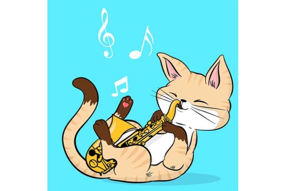 Play Purr Music Graphic Illustrations By Sasha_Brazhnik