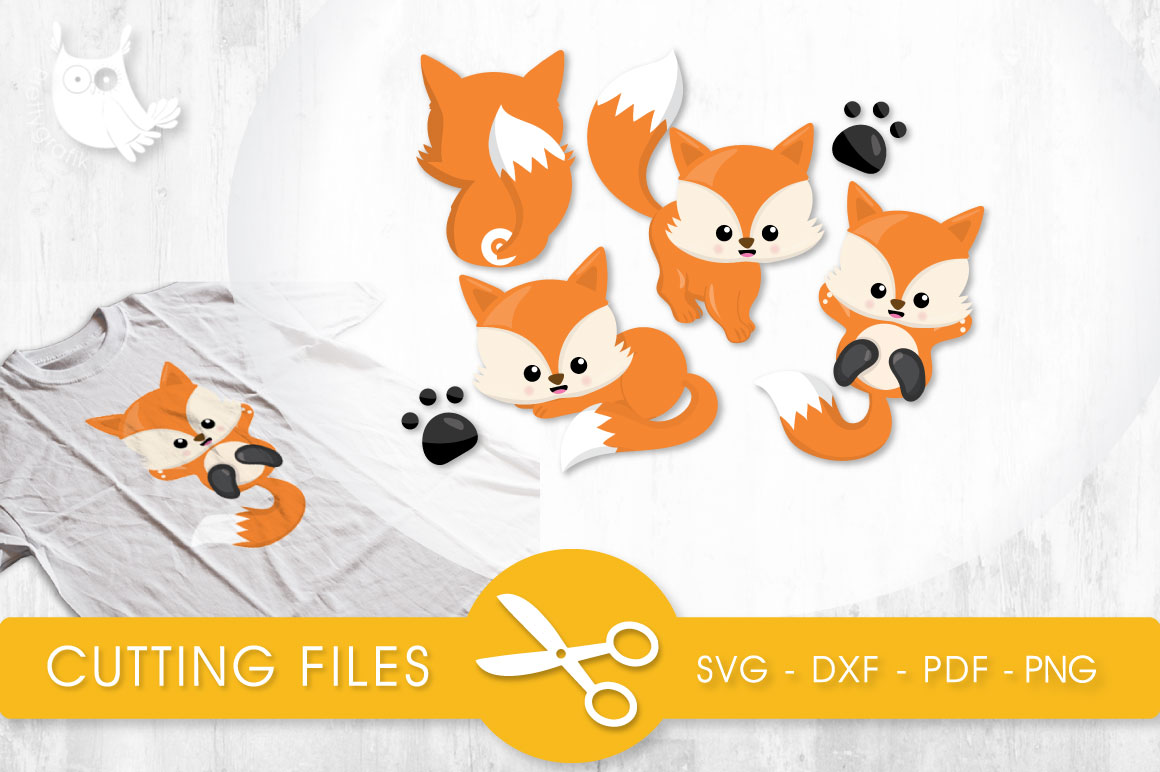 Playful Foxes Graphic Crafts By PrettyCuttables