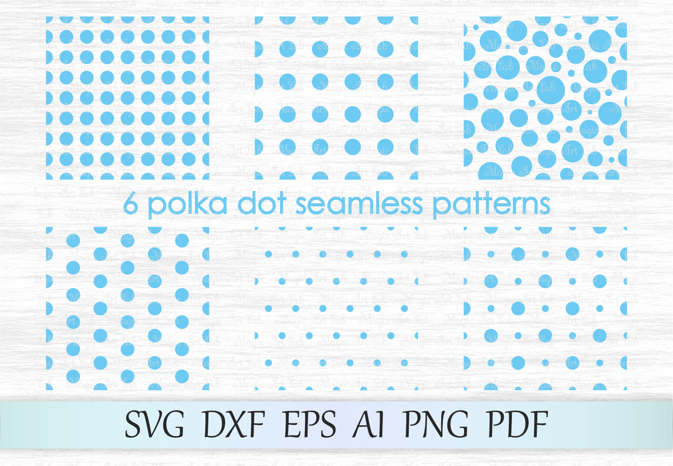 Download Free Polka Dot Seamless Patterns Svg Graphic By Magicartlab for Cricut Explore, Silhouette and other cutting machines.